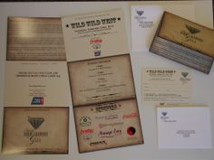 Invitations and RSVP cards that The Print Raven printed and donated to Denim and Diamonds Gala