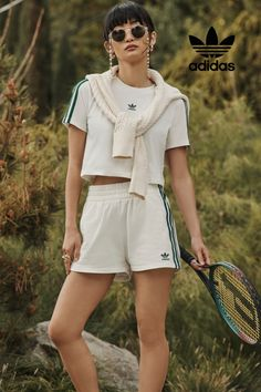 Inspired by yesterday built for tomorrow. Explore carefree comfort, available exclusively at adidas. Latest Fashion For Women, Womens Fashion, Athleisure Outfits, Outfit Goals, Everyday Outfits, Retro Fashion, Adidas Originals, Short Dresses, Rompers