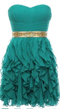 #green #chiffon #short #shortpromdress #homecomingdress #cocktaildresses…
