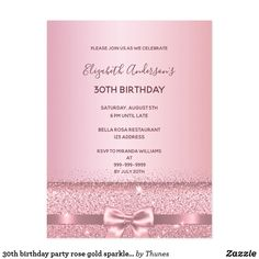 Shop birthday party rose gold sparkle invitation postcard created by Thunes. Rose Gold Glitter, Gold Sparkle, Purple Gold, 90th Birthday Parties, Birthday Celebration, Birthday Gifts, Birthday Ideas, Birthday Roses, Carton Invitation