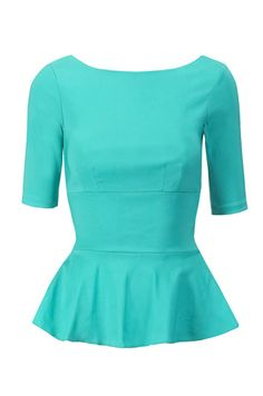 Turquoise Peplum top from Topshop