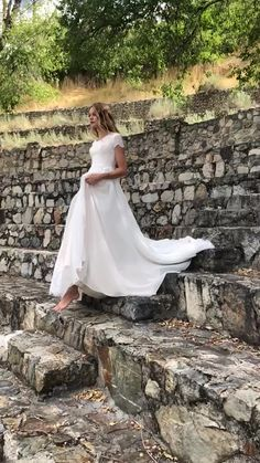 Anne gown Anne gown by Elizabeth Cooper Design Modest Wedding Dresses With Sleeves, Lace Dress With Sleeves, Cheap Wedding Dress, Boho Wedding Dress, Modest Dresses, Bridal Dresses, Custom Dresses, Bridesmaid Dresses, Wedding Shot