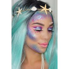 Halloween 2016 The Best Mermaid Makeup Tips From Instagram Beauty... ❤ liked on Polyvore featuring beauty products
