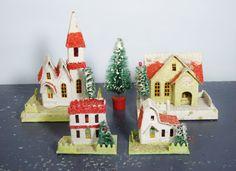 Miniature Putz Christmas Village by ohiopicker on Etsy