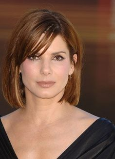 Sandra Bullock- another great haircut. This shorter length is most flattering on her.