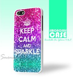 Keep calm and sparkle - Iphone case for 4 case