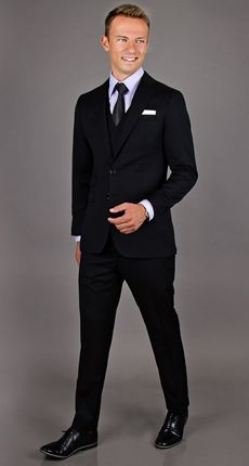 Cose Belle Black 3 Piece Suit
