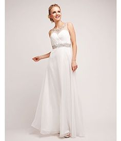 White Chiffon  Stone Grecian Gown 2015 Prom Dresses ** Read more reviews of the product by visiting the link on the image.