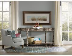 Sanctuary Brighton Four-Drawer Console Table | Hooker Furniture | Star Furniture | Hooker Furniture. Pursue serenity at home. Create your own personal sanctuary, a special place where you can experience comfort within.
