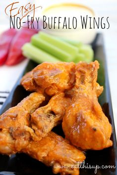 No Fry Buffalo Wings Recipe