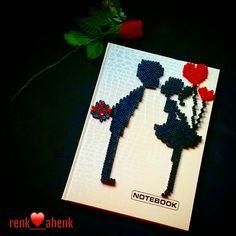 Valentines notebook hama perler beads by renk__ahenk