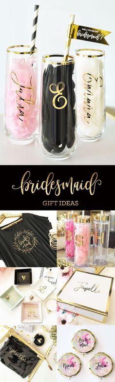 Bridesmaid Gifts from Bride   Bridesmaid Gift Ideas   Bridal Party Gifts   Bridal Party Ideas::