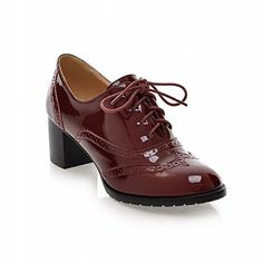Carol Shoes Casual Women's Lace-up Fashion Chunky Middle Heel Oxfords Shoes (4.5, Wine Red) Carol Shoes http://www.amazon.com/dp/B00OXOUPN6/ref=cm_sw_r_pi_dp_4gBMub1G3DYR5