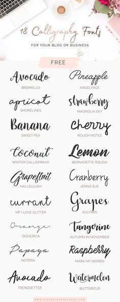 Art journals 520376931941110709 - 18 free fonts for logo design, signatu . - Art journals 520376931941110709 – 18 free fonts for logo design, signatures or any other graphic - Logo Monogramme, Inspiration Typographie, Blog Logo, Brush Lettering, Brush Script, Types Of Lettering, Cool Fonts, Fun Fonts, Simple Fonts