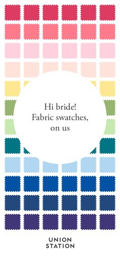 Request free fabric swatches to see our shades in person! With 10 gorgeous styles in 18 colors, you are sure to find the perfect bridesmaid dress. Union Station: Bridesmaids dresses you can rent or buy.