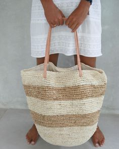 Beach Tote Straw Bag by MOOSSHOP on Etsy, $39.95