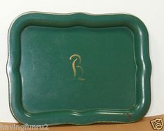 "Monogrammed ""B"" Calling Card Tray"