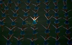 """A ray of light"" , Mass games in Pyongyang Stadium, North Korea, Eric Lafforgue"