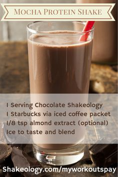this one is perfect for coffee lovers. Recipe is: 1 serving Chocolate ...