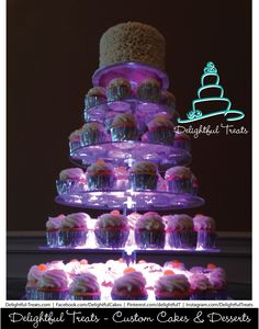 LED Lighted Wedding Cupcakes by Delightful Treats Cakery