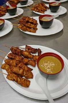 Chicken Satay with Peanut Sauce Adelaide - Salt & Chilli Mobile Catering