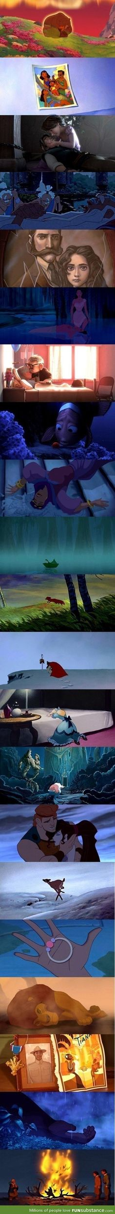 Sad moments in Disney movies - I just couldn't choose one.