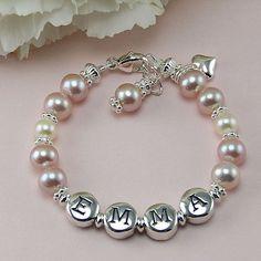 Girls Personalised Double Row Shamballa Bracelet *Big//Little Sister//Daughter*