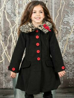 Sarah Louise Little Girls Navy Coat & Hat | Coats Girls and Blue