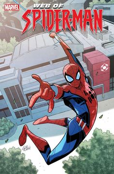 """This June, Peter Parker, AKA Spider-Man, will make a return to his scientific roots and visit Avengers Campus in the new comic, """"W. of Spider-Man Amazing Spiderman, Spiderman Art, Comic Book Covers, Comic Books, Comic Art, 70s Cartoons, Marvel Art, Ms Marvel, Marvel Heroes"""