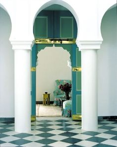 Yves Saint Laurent´s oasis in Tangier. Interior design by Jacques Grange.