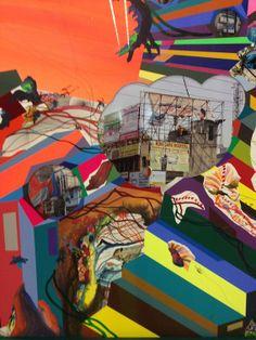 Franz Ackermann, Hügel und Zweifel, (Detail) Berlinische Galerie, Berlin 2014 #franzackermann #art #painting