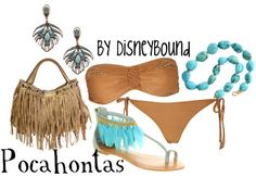 this would be cute if a. I was super skinny OR b. it was a cute one piece OR c. all of the above (Loose Weight Swimming) Disney Bound Outfits, Disney Inspired Outfits, Disney Dresses, Disney Style, Disney Clothes, Themed Outfits, Disney Bathing Suit, Bathing Suits, Estilo Disney