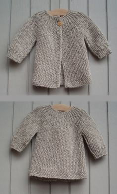 Diy Crafts - Find ideas in home decor, design, shoping, cooking and much more for all your projects and interests. Baby Cardigan Knitting Pattern Free, Kids Knitting Patterns, Knitted Baby Cardigan, Hand Knitted Sweaters, Knitting For Kids, Baby Patterns, Quick Knits, Crochet Baby, Diy Crafts