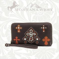 Montana West Multi Cross Wallets - MORE COLORS!! at Cowgirl Blondie's Dumb Blonde Boutique