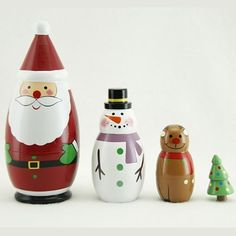 Christmas Russian Dolls by Gisela Graham Christmas Christmas Decorations For Kids, Christmas Themes, Kids Christmas, Christmas Tree Ornaments, Christmas 2019, Matryoshka Doll, Kokeshi Dolls, Gisela Graham Christmas, Bottle Painting