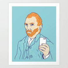 Van Selfie Art Print / Domenic Bahmann #society6
