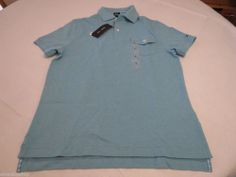 Mens Tommy Hilfiger Polo shirt S slim fit pocket solid NEW 7845162 Blue Mist 428 #TommyHilfiger #polo
