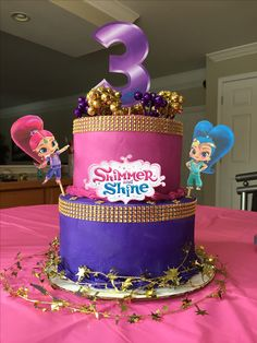 Evie's Shimmer and Shine Birthday Cake