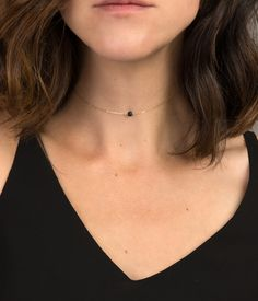 Chain Choker Necklace, Choose your Tiny Stone / Gold Filled, Sterling Silver or Rose Gold / Dainty Short Layering Necklace – Most Beautiful Necklaces Diamond Cross Necklaces, Gemstone Necklace, Cute Jewelry, Silver Jewelry, Silver Earrings, Gold Jewellery, Gold Mangalsutra, Accesorios Casual, Stone Gold