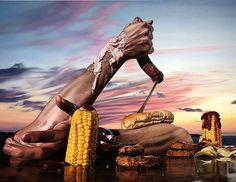 Surrealist Camping Lunch is a series of paintings by artist Till Rabus. Heavily-influenced by the surrealist works of Salvador Dali