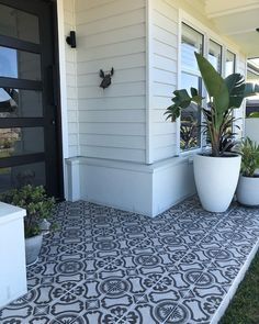 """TileCloud on Instagram: """"Mel one of our in house interior designers just got emailed this finished project image from one of her happy customers. The Shell Beach…"""" Creating An Entryway, Shell Beach, Backyard Garden Design, House 2, Cottage Homes, Exterior Colors, Tile Design, House Styles, Interior"""