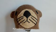 Otter Hat All sizes available-Made to order by kjcreations2 ...