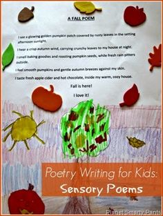 Poetry Writing for Kids: How to write sensory poems. #writingforkids