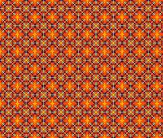 Little Details in Orange fabric by claudiaowen on Spoonflower - custom fabric