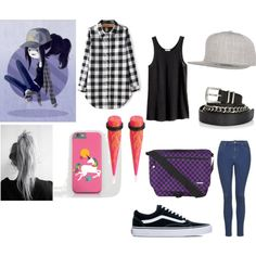 Marceline the Black and White Queen by keneko17therainbowprincess on Polyvore featuring polyvore fashion style H&M Topshop Vans Yak Pak Flexfit Twist & Tango