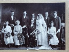 ANCESTRY 1913 Wedding PERTH West Australia Photograph Cahill Woods FAMILY Photo