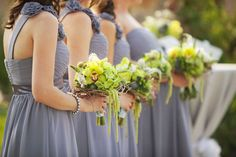 Pretty dresses and color for bridesmaids