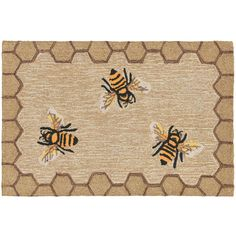 Trans Ocean Imports Liora Manne Frontporch Framed Honeycomb Bee Indoor... ($88) ❤ liked on Polyvore featuring home, rugs, natural, indoor outdoor area rugs, indoor outdoor patio rugs, trans ocean rugs, faux rug and border rug