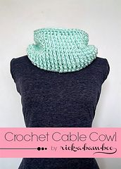 Ravelry: Crochet Cable Cowl pattern by Amber Simmons.. Free pattern!