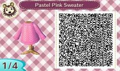 """jorvikcrossing: """"Request for a pastel pink sweater! :D Edit: Might've made it too dark? D:"""""""